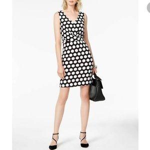 INC Bold Polka Dot Jersey Dress NWT